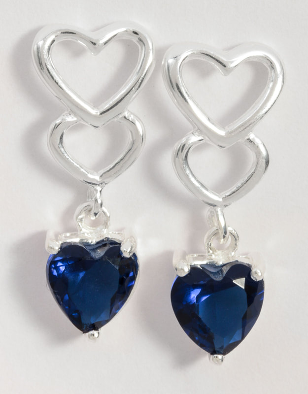 Jewelry Photography silver with precious stones earrings