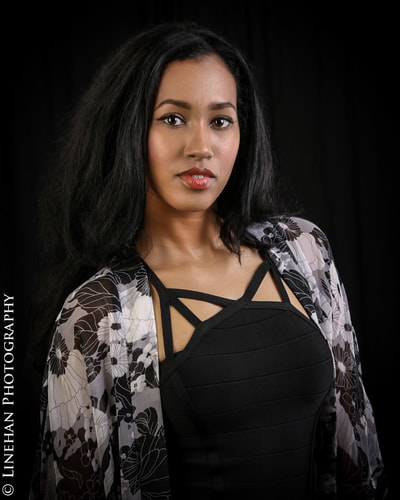 fashion photography, model head shot