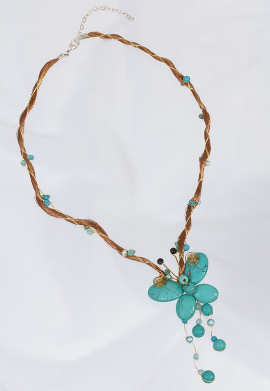 Jewelry Photography gold silver and turquoise necklace