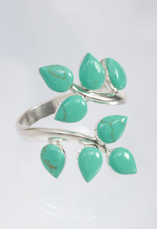 Jewelry Photography silver and turquoise ring